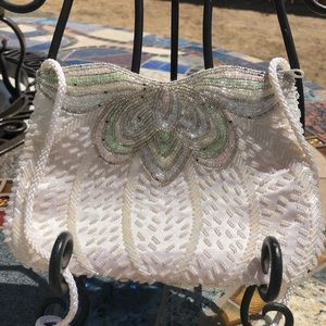 VTG Magda beaded evening butterfly bag / purse